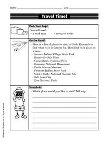 Travel Time! Worksheet