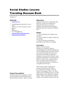 Traveling Museum Book Lesson Plan