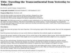 Traveling the Transcontinental from Yesterday to Today Lesson Plan