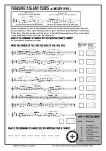 math worksheet : treasure island clues melody 2nd  12th grade worksheet  lesson  : Math Worksheet Island