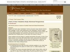 Treaty Trail: Historical Perspectives Point of View Lesson Plan