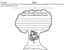 Tree Alliteration Worksheet