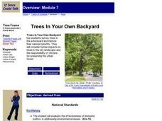 Trees in Your Own Backyard Lesson Plan