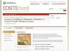 Trekking to Timbuktu: A Center of Trade Lesson Plan