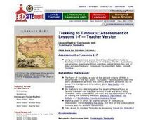 Trekking to Timbuktu: Assessment of Lessons 1-7 - Teacher Version Lesson Plan