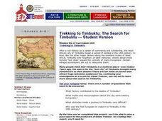 Trekking to Timbuktu: The Search for Timbuktu Lesson Plan