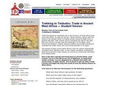 Trekking to Timbuktu: Trade in Ancient West Africa Lesson Plan