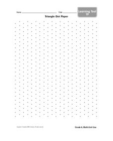 Triangle Dot Paper Worksheet