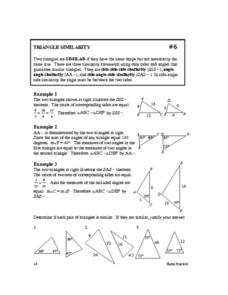 Triangle Similarity Worksheet