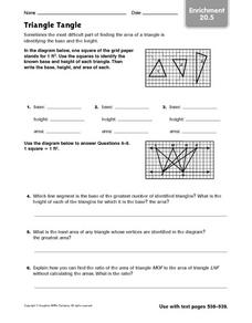 Triangle Tangle: Enrichment Worksheet