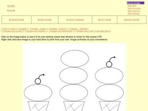 Triangles and Ovals- Ice Cream Cones Worksheet