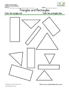 Triangles and Rectangles Worksheet