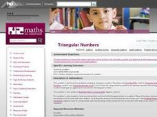 Triangular Numbers Lesson Plan