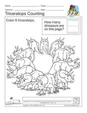 Triceratops Counting Worksheet