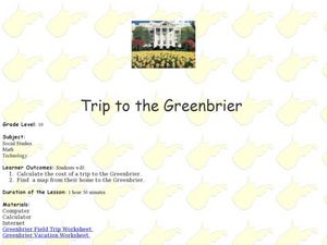 Trip to the Greenbrier Lesson Plan