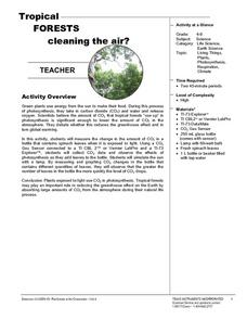 Tropical Forests Cleaning the Air? Lesson Plan