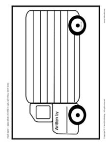 Truck Writing Paper Printables & Template
