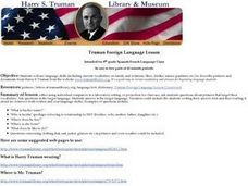 Truman Foreign Language Lesson Lesson Plan