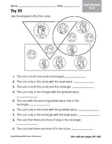 Try It! Coin Enrichment Activity Worksheet