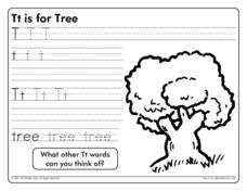 Tt is for Tree Worksheet