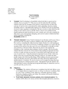 Tuck Everlasting Lesson Plan