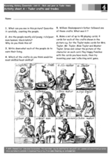 Tudor Crafts and Trades Worksheet