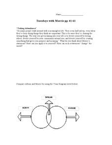 Tuesdays with Morrie Pages 44-61 Worksheet