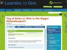 Tug of Roles or Who is the Bigger Philanthropist? Lesson Plan