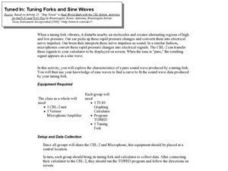 Tuned in: Tuning Forks and Sine waves Lesson Plan