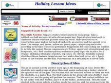 Turkey exercises Lesson Plan