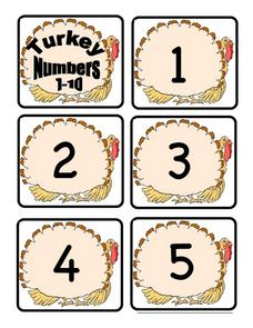Turkey Numbers Lesson Plan