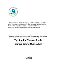 Turning the Tide on Trash: Marine Debris Curriculum Lesson Plan