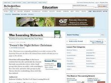 'Twasn't the Night Before Christmas Lesson Plan