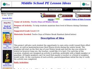 Twelve Days of Winter Break Lesson Plan