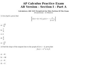 AP Calculus AB Cram Sheet - Magoosh High School Blog