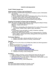 Twenty-one Balloons Lesson Plan