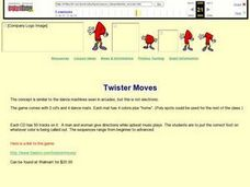 Twister Moves Lesson Plan