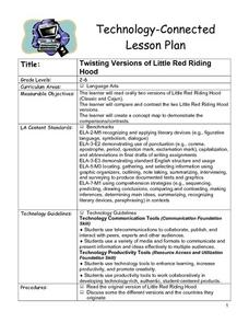 Twisting Versions of Little Red Riding Hood Lesson Plan