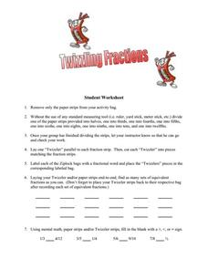 Twizzling Fractions Worksheet