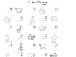 Two and Three Digit Subtraction With Regrouping Worksheet