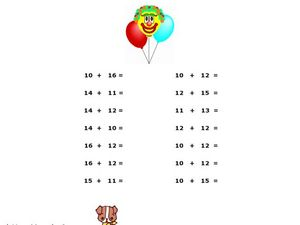 Two-Digit Addition Worksheet