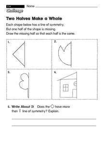 Two Halves Make a Whole Worksheet
