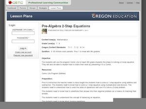 Two-Step Equations Lesson Plan