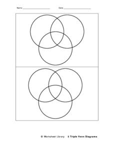 Two Triple Venn Diagrams Worksheet