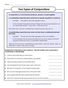 conjunction exercises for class 3 coordinating conjunctions fanboys 4th 8th grade worksheet in. Black Bedroom Furniture Sets. Home Design Ideas