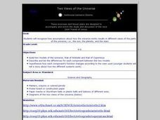Two Views of the Universe Lesson Plan