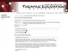 Types of Theaters, Parts of the Stage, Theatre Jargon Lesson Plan