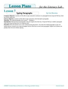 Typing Paragraphs Lesson Plan
