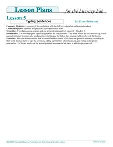 Typing Sentences Lesson Plan