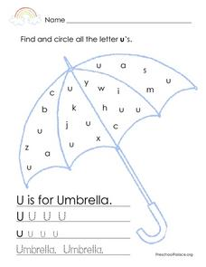 U is for Umbrella 2 Lesson Plan